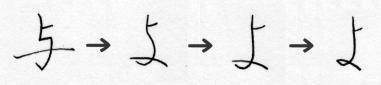 「よ」の字源