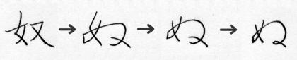 「ぬ」の字源