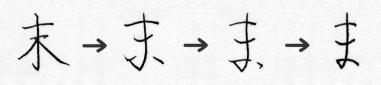 「ま」の字源