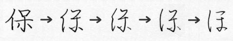 「ほ」の字源