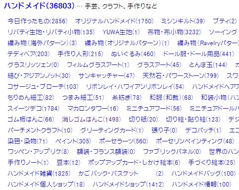 ブログ村 ハンドメイドカテゴリ
