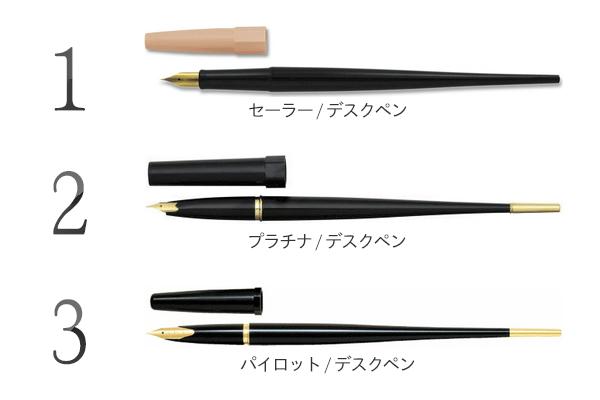 手本執筆でよく使用されたデスクペン