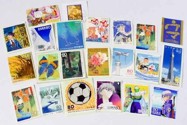 パイロットペン習字の使用済み切手 2014