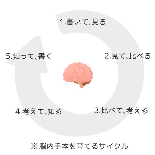脳内手本を育てるサイクル
