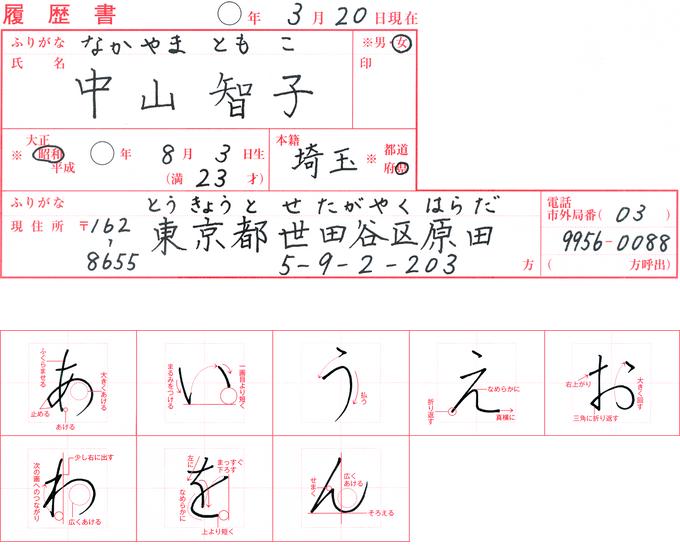 中塚翠涛先生の手本