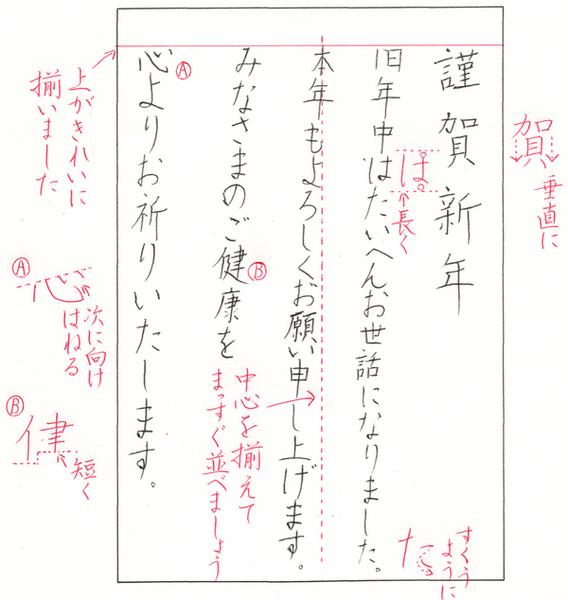 第3回課題「年賀状」当時の添削の様子を再現