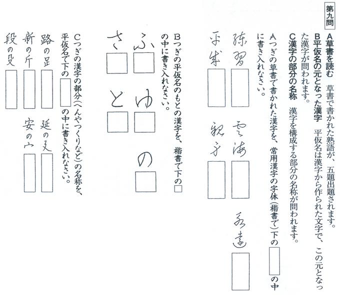 2級 第9問 問題文