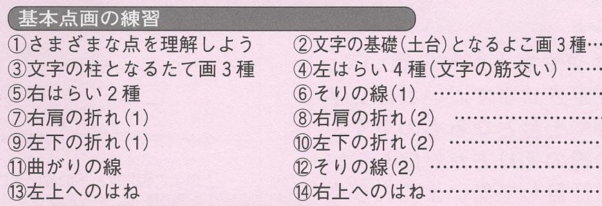 テキスト第2巻の目次(一部)
